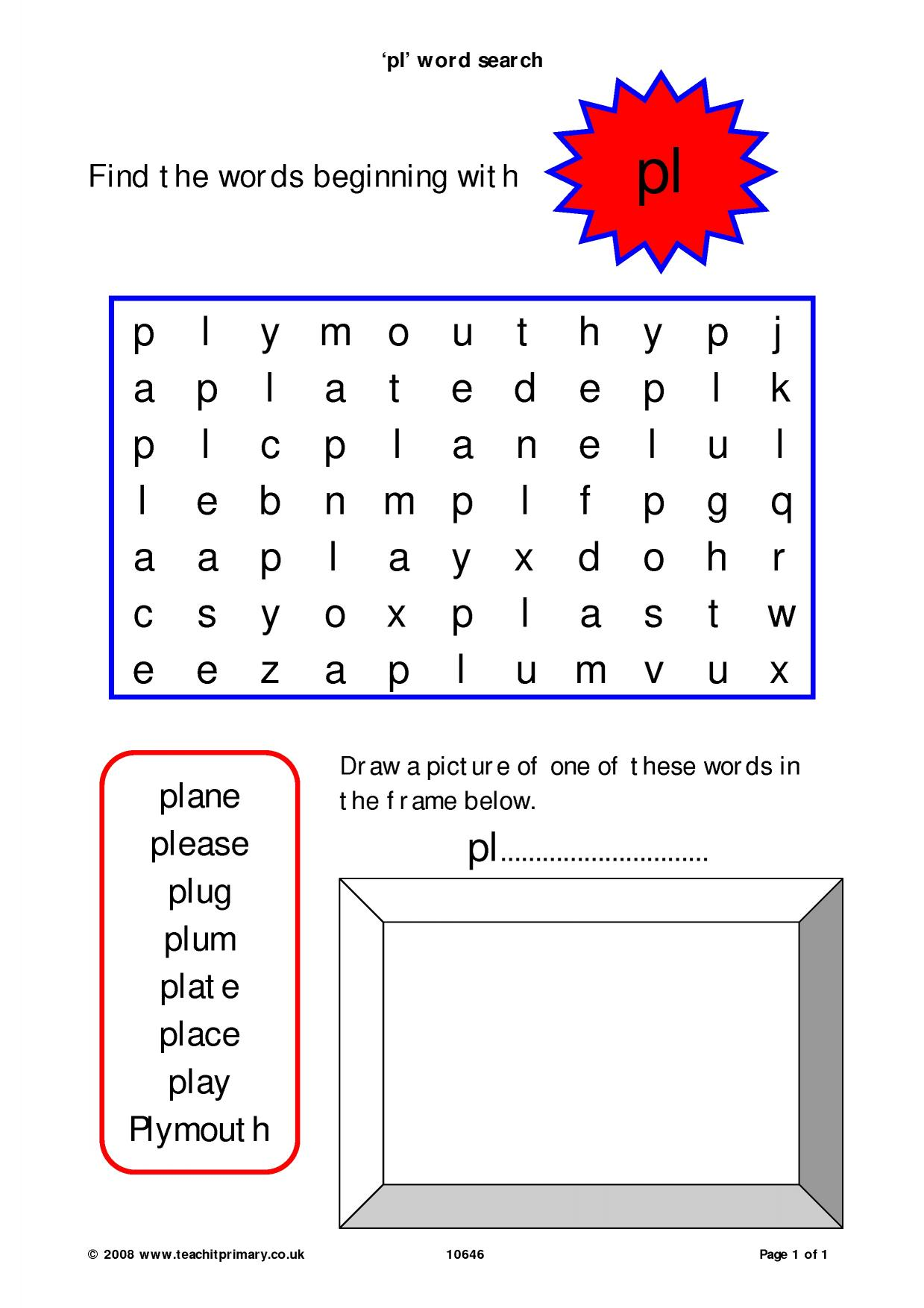 Teach Child How To Read Phonics Word Search Phase 3