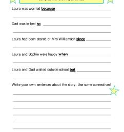 Using Conjunctions Worksheet   Printable Worksheets and Activities for  Teachers [ 1754 x 1239 Pixel ]