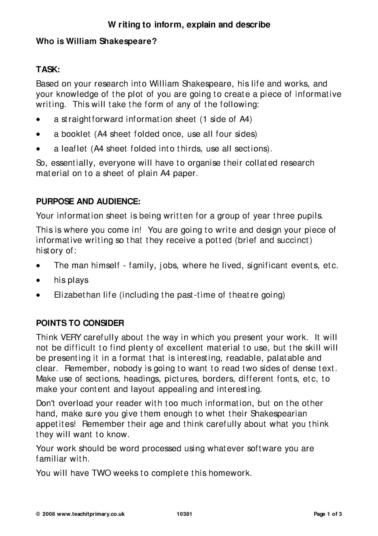 Roald Dahl Biography Ks2 Planning Ks2 Biography And Autobiography Teachit Primary