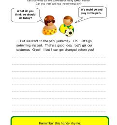 How To Write A Dialogue Ks2 English Worksheets [ 1754 x 1239 Pixel ]