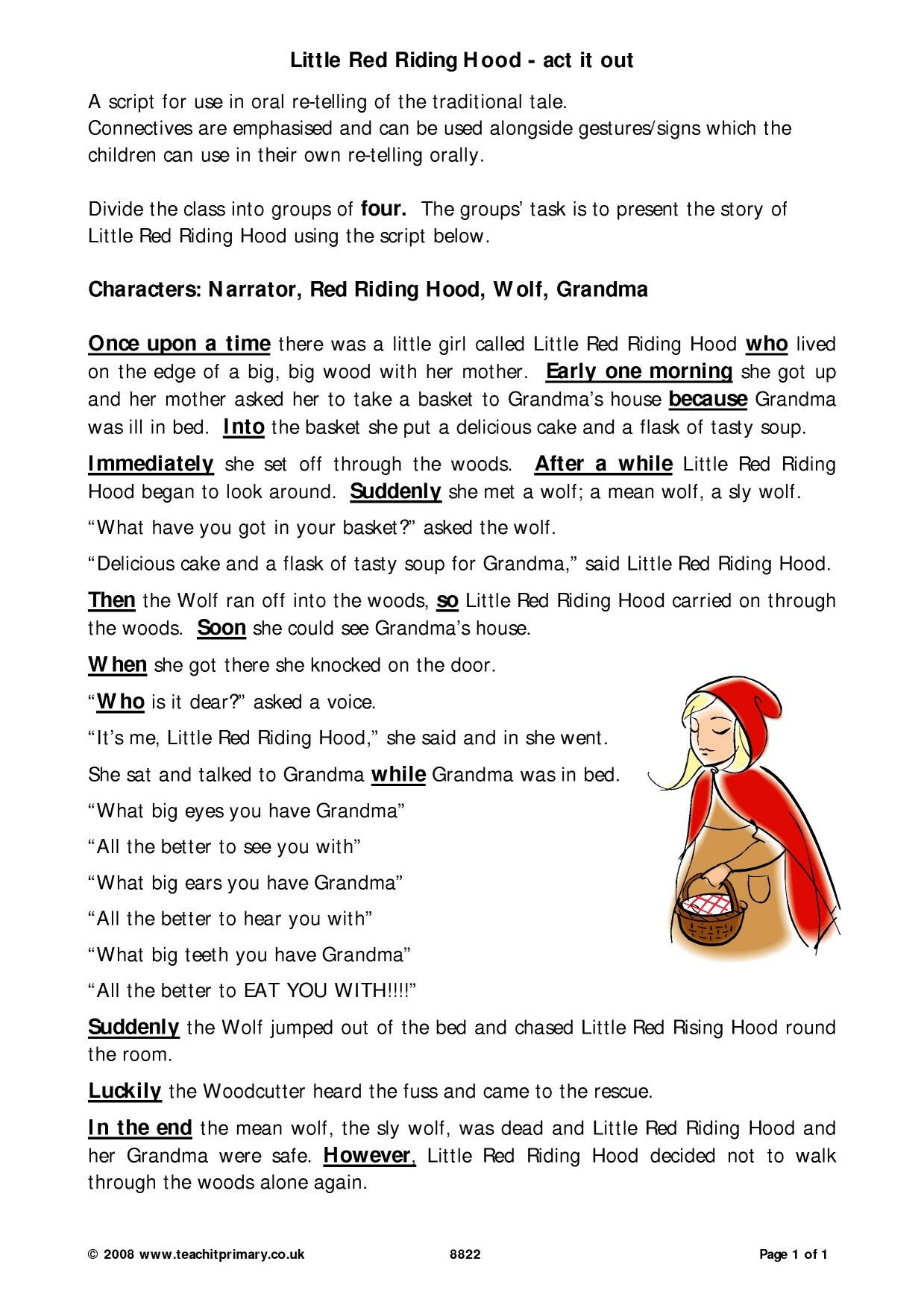 Creating A Fairy Tale Worksheet