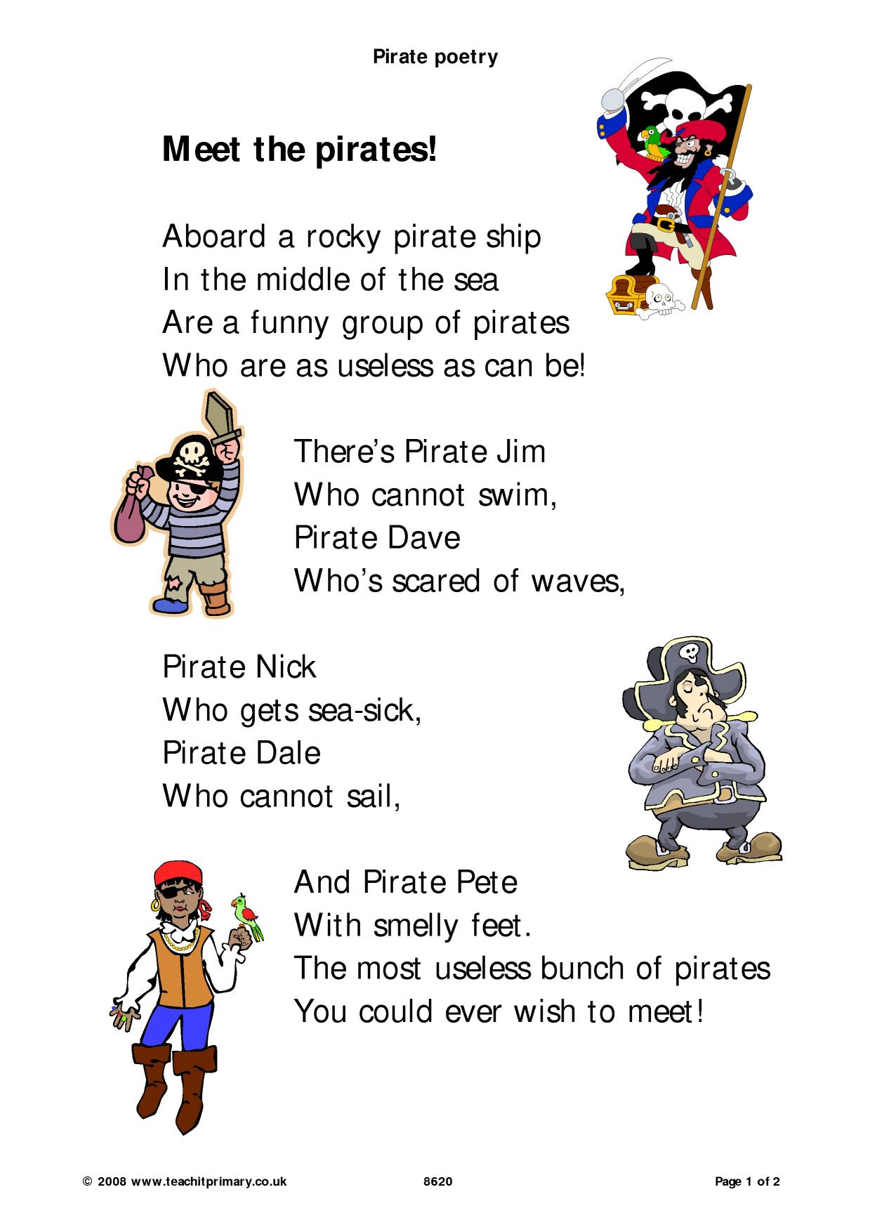 Pirate Poetry