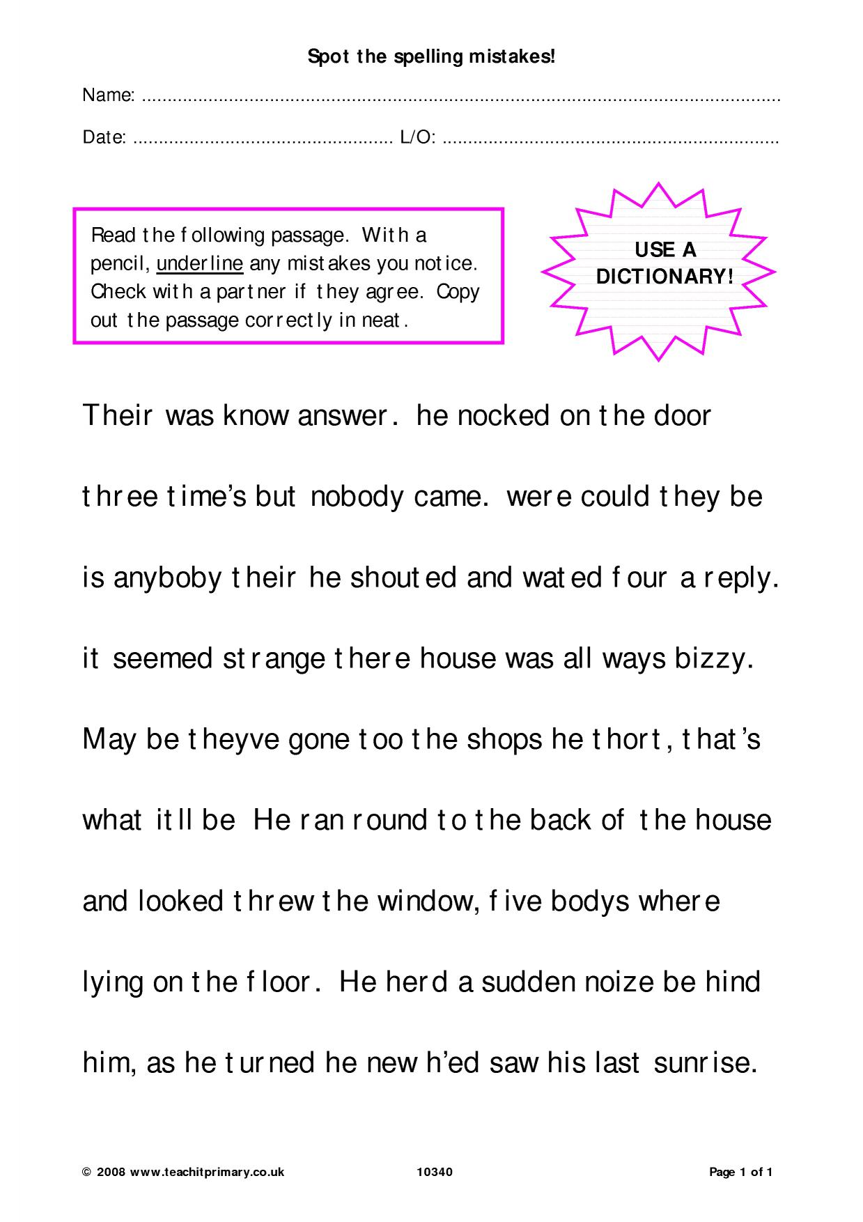 Homophones Worksheet Ks2 Free