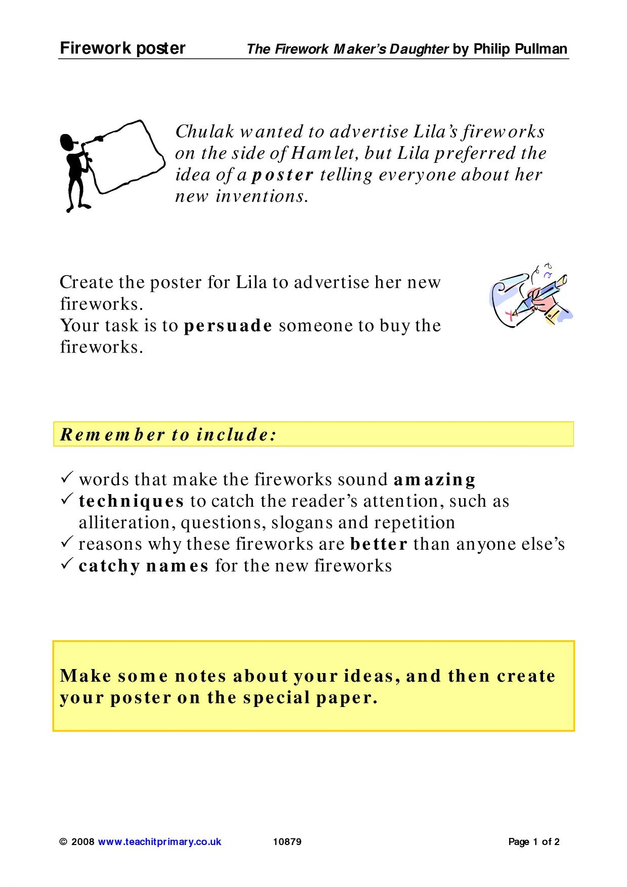 Student Questions For Fireworks Worksheet 3
