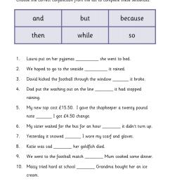 Cordinating Conjunctions Worksheet   Printable Worksheets and Activities  for Teachers [ 1754 x 1239 Pixel ]
