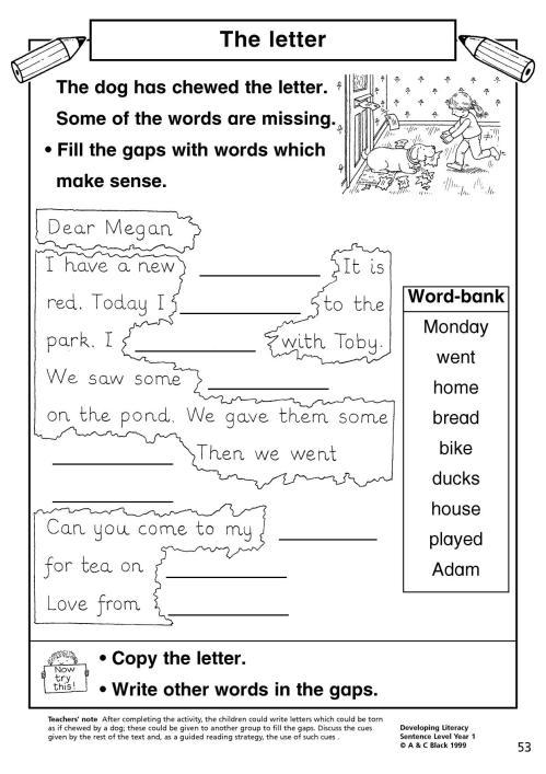 small resolution of EYFS   KS1   KS2   Simple sentences   Teachit Primary