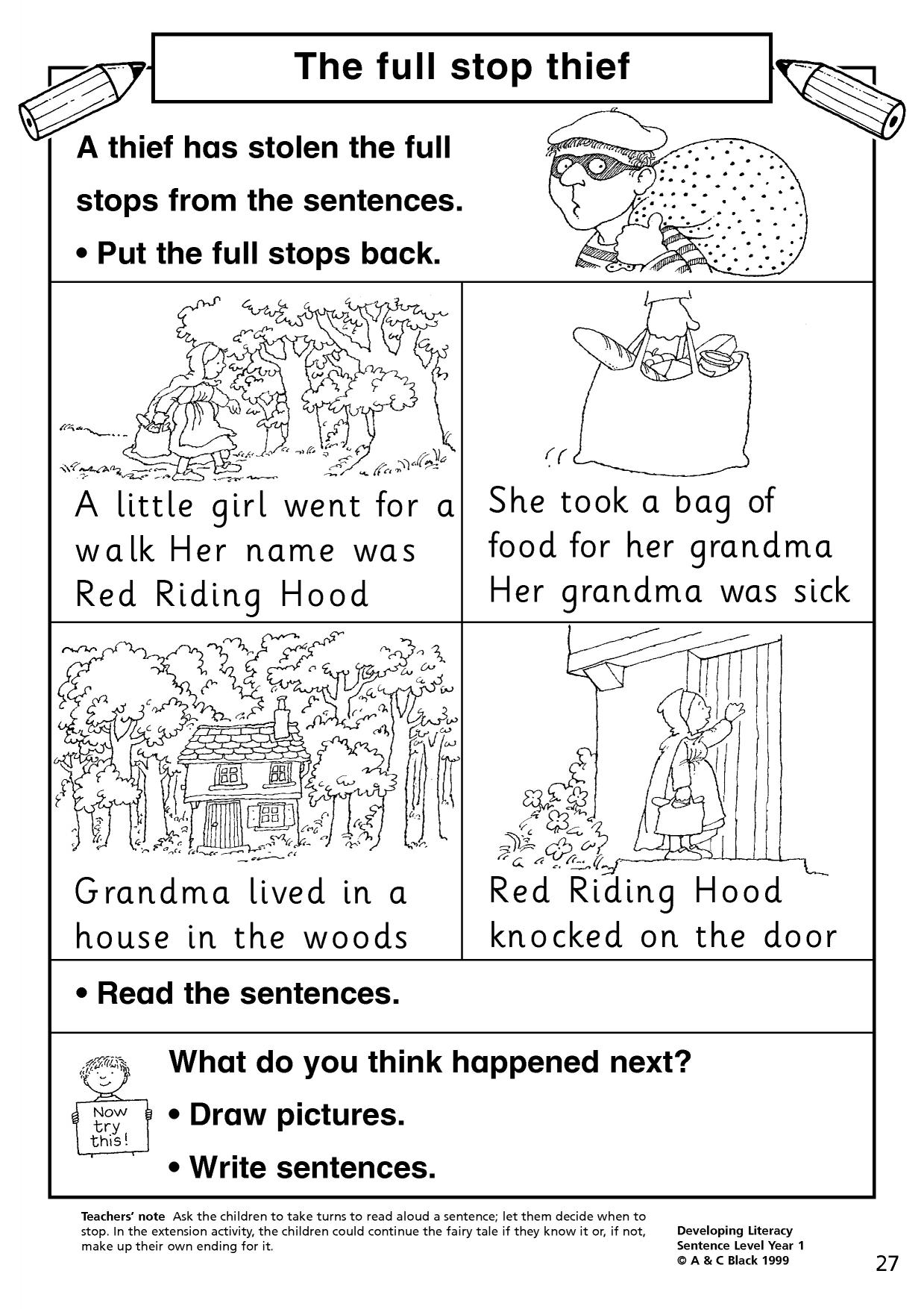 Using Commas Worksheet Ks1