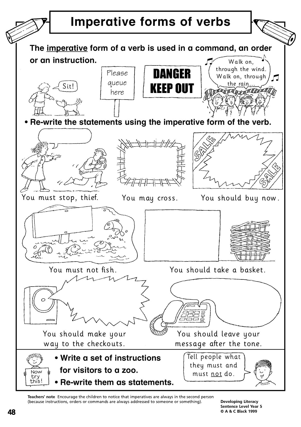 Worksheet Verbs Ks1