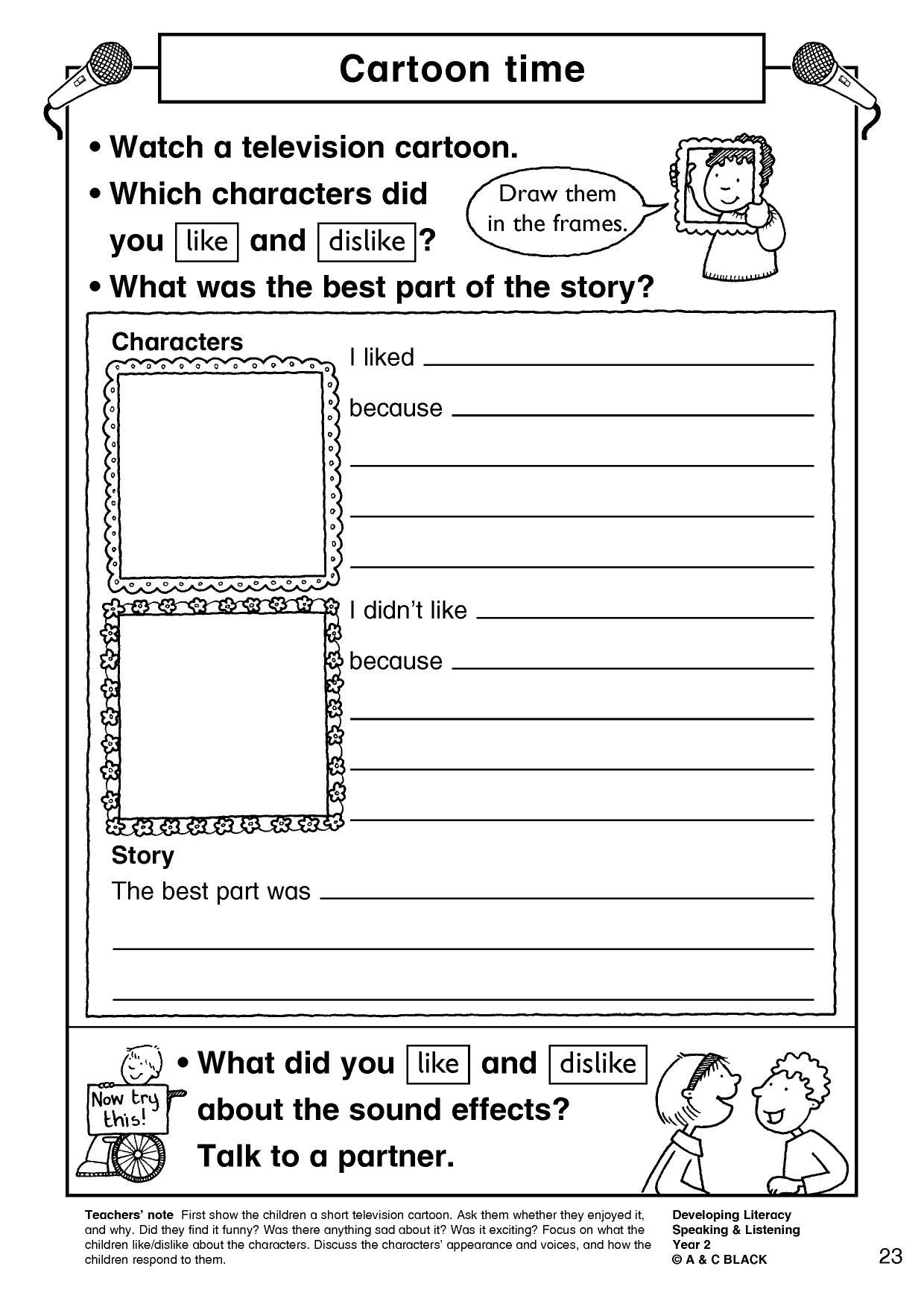 Bible Character Description Worksheet