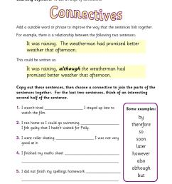 KS2   Conjunctions and connectives   Teachit Primary [ 1754 x 1239 Pixel ]