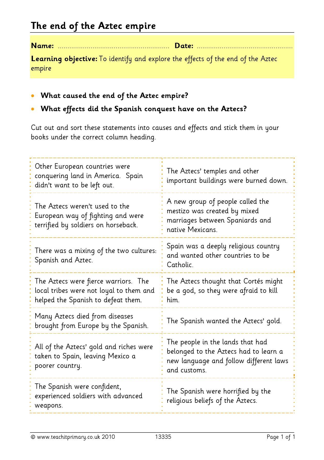 Worksheet Aztec Worksheets Worksheet Fun Worksheet Study