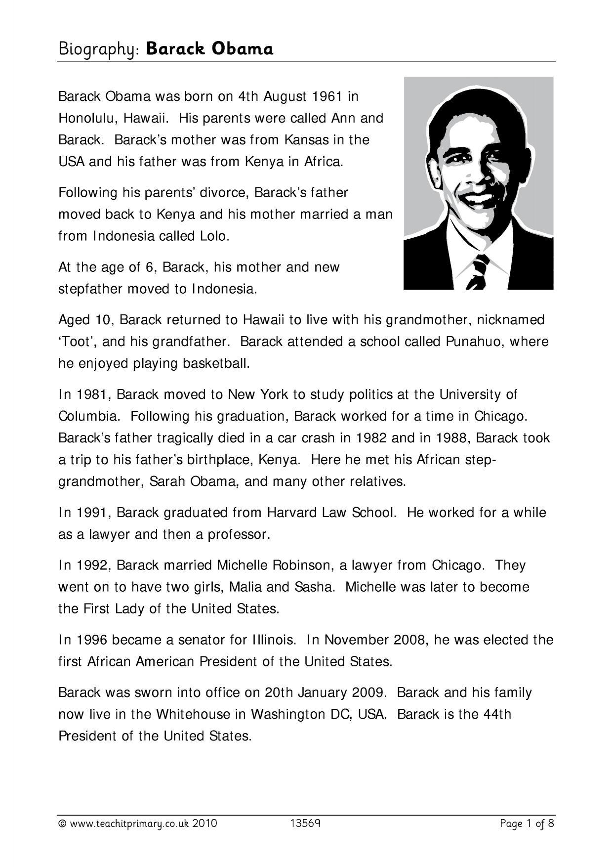 Biography Barack Obama