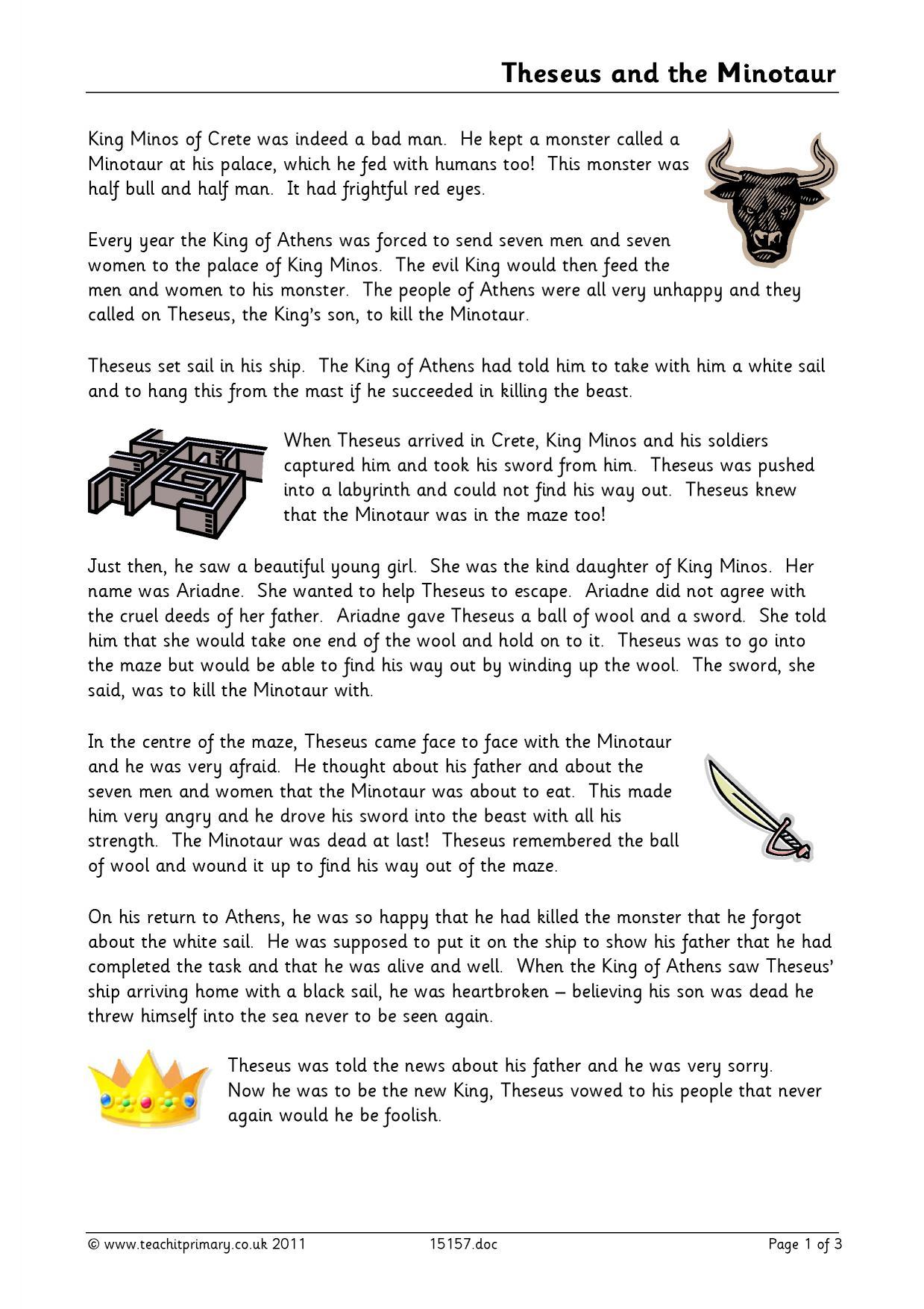 Theseus And The Minotaur Hero Or Villian