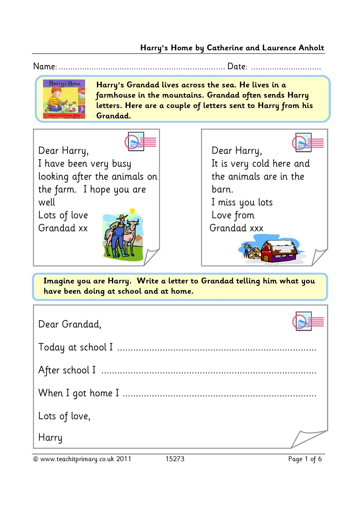 Writing A Letter Lesson Plan Ks1 How To Write A Process