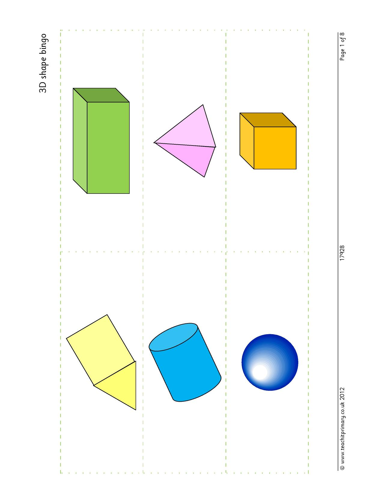 Properties Of Shapes Recognizing Naming And Describing