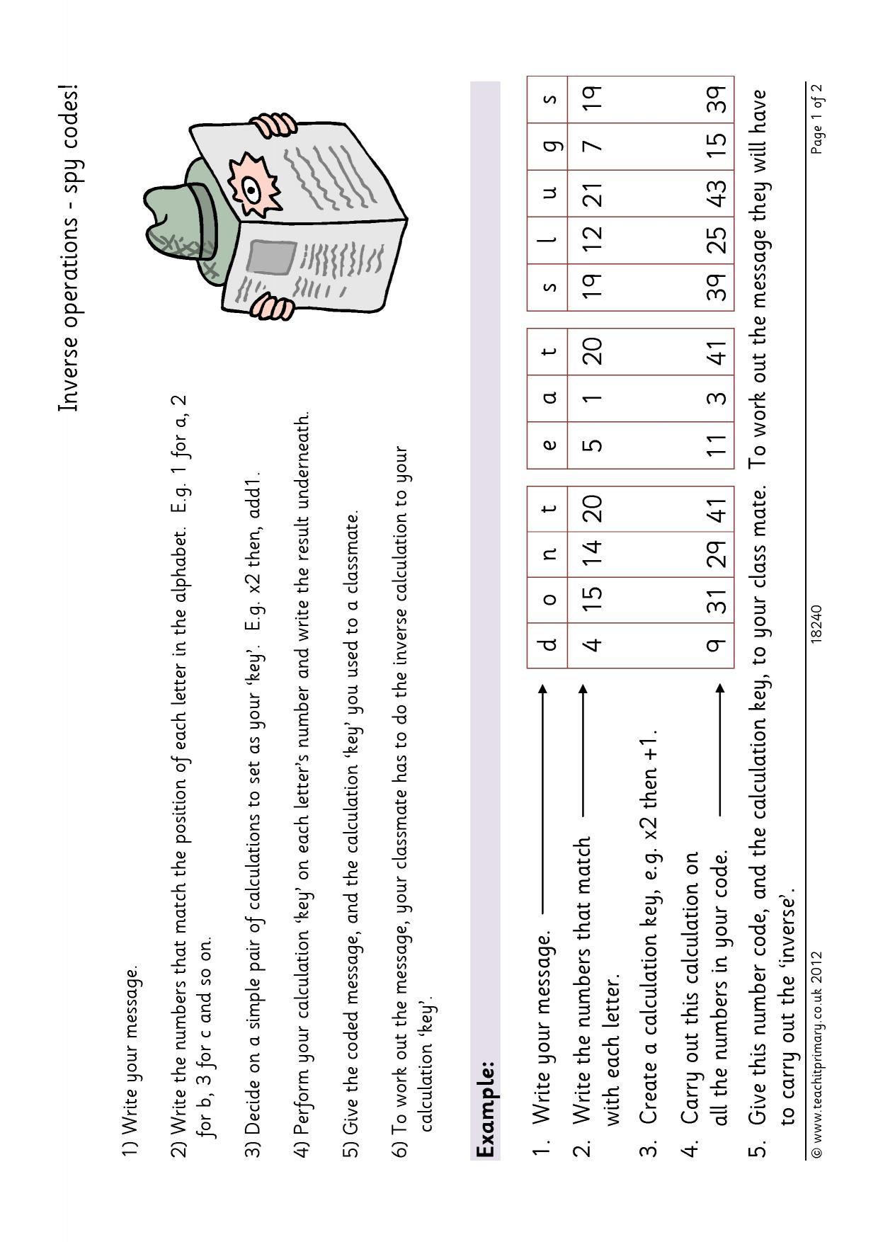 Division Homework Ks2