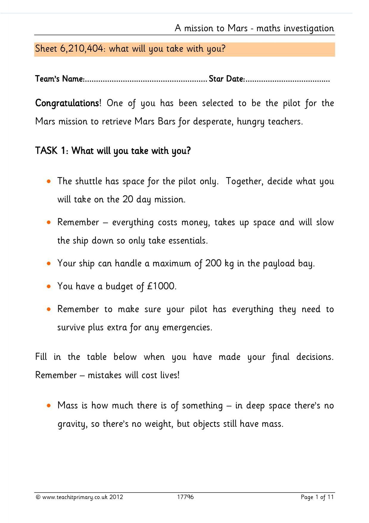 Maths Investigations For Ks2