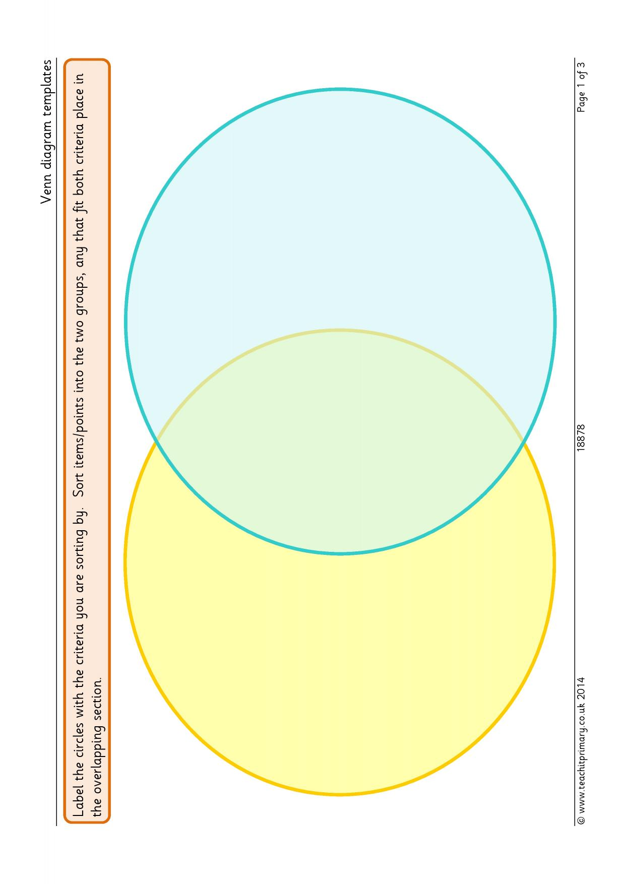 Venn Diagram Template Pages Software Free Download