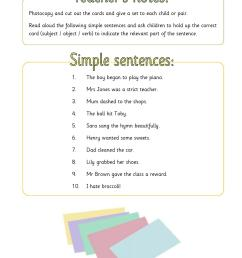EYFS   KS1   KS2   Simple sentences   Teachit Primary [ 1754 x 1239 Pixel ]