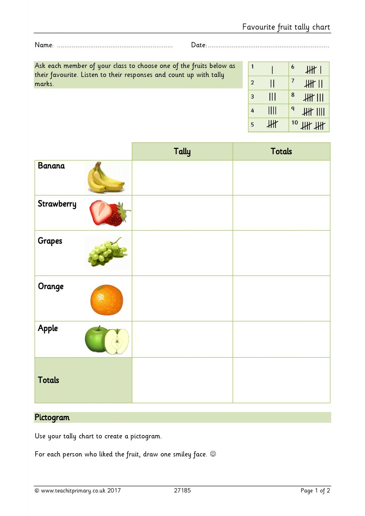 Charts And Diagrams Worksheet