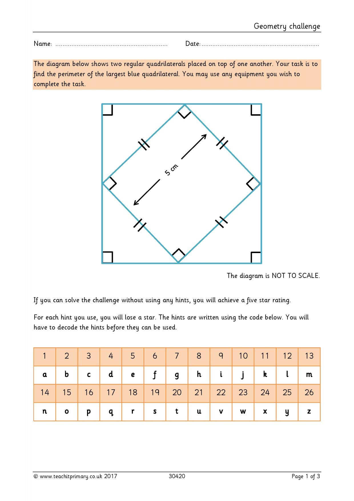 Primary Maths Resources Ks2 Geometry