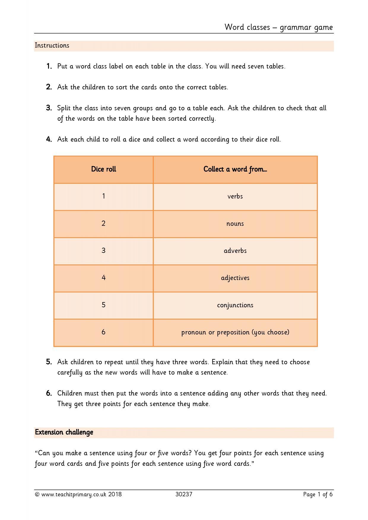 Conjunction Worksheet Question