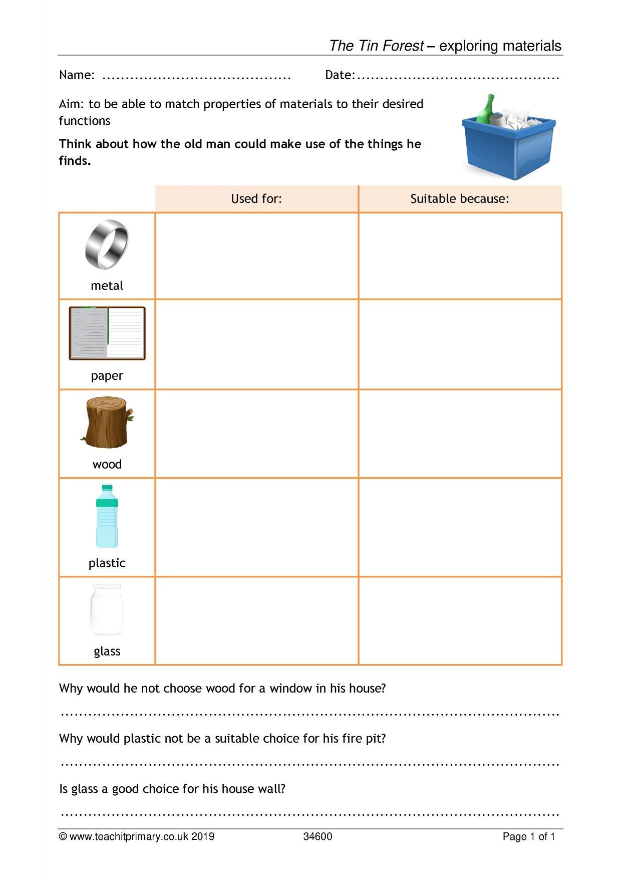hight resolution of EYFS   KS1   KS2   Everyday materials   Teachit Primary