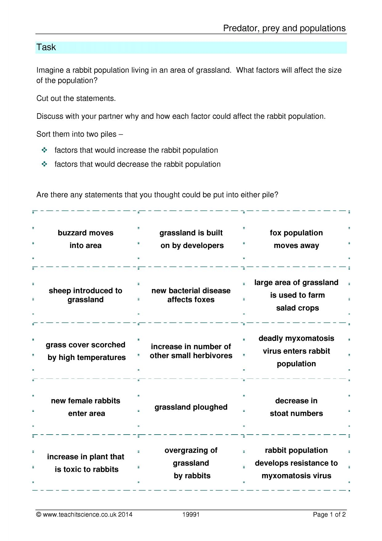 Worksheet Predator Prey Worksheet Grass Fedjp Worksheet Study Site