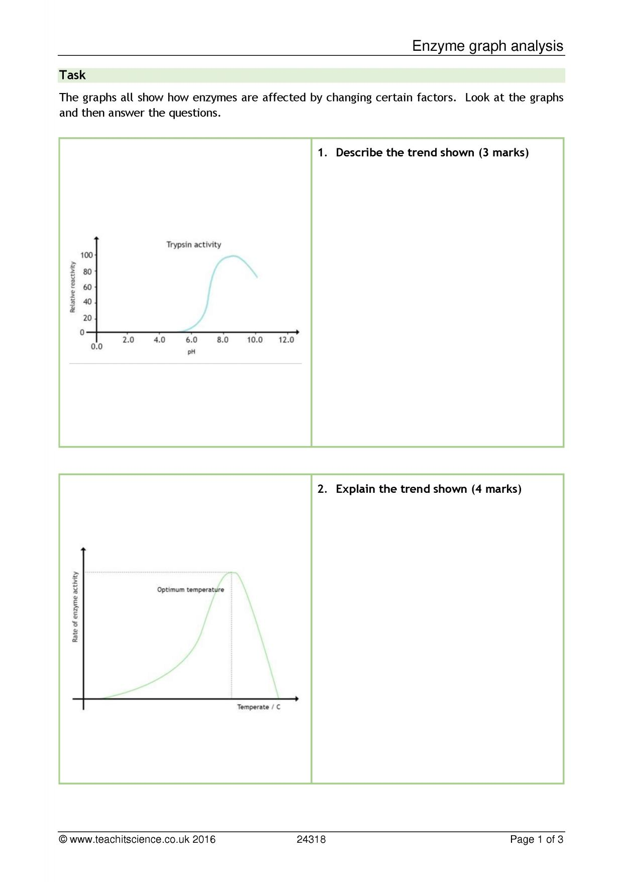 Science Worksheet Graph Fish