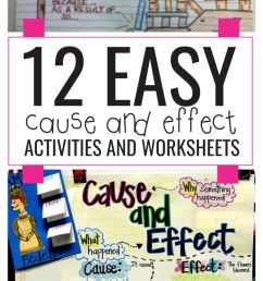 12 Easy Cause and Effect Activities and Worksheets - Teach Junkie [ 1400 x 700 Pixel ]
