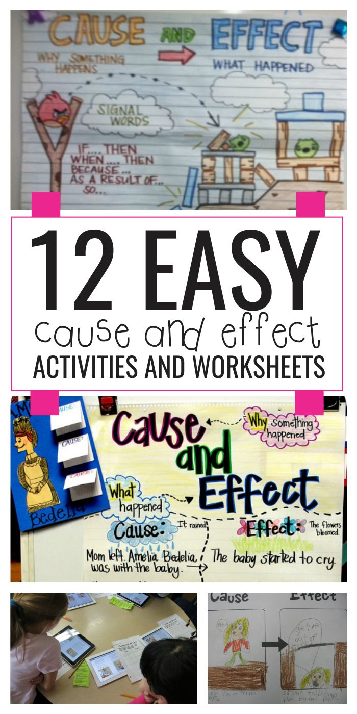 hight resolution of 12 Easy Cause and Effect Activities and Worksheets - Teach Junkie