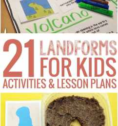 21 Landforms for Kids Activities and Lesson Plans - Teach Junkie [ 1102 x 735 Pixel ]