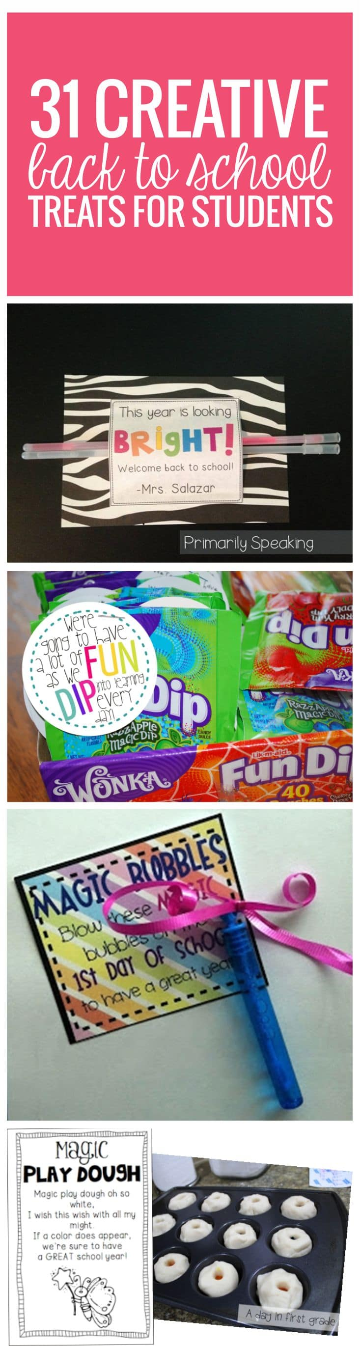 hight resolution of 31 Creative Back to School Treats for Students {printables} - Teach Junkie