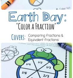 Free Earth Day Fractions Printable Pack - Teach Junkie [ 1272 x 800 Pixel ]