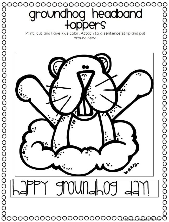 Groundhog Day Math Worksheets Kindergarten. Groundhog