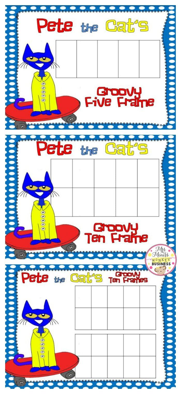 medium resolution of Pete the Cat FREEBIE Ten Frames - Teach Junkie