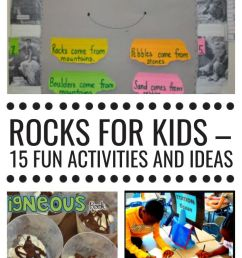 Rocks for Kids - 15 Fun Activities and Ideas - Teach Junkie [ 1400 x 700 Pixel ]