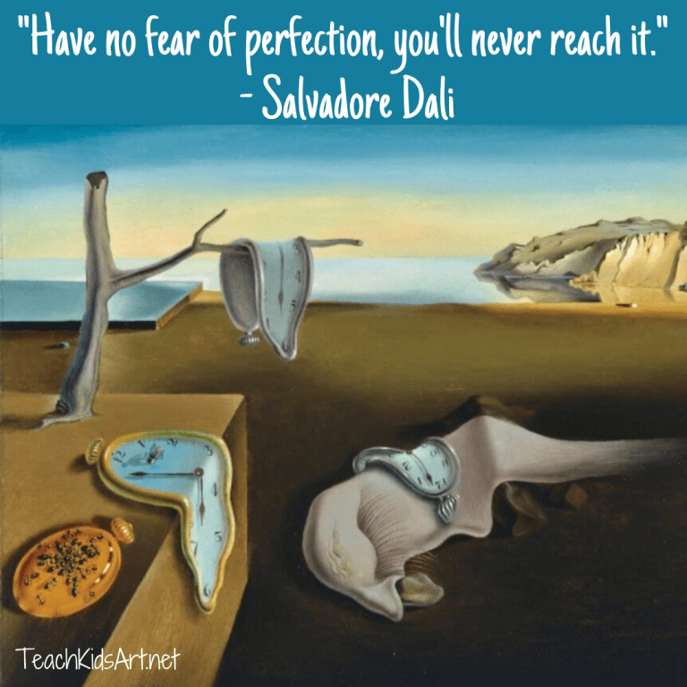 The Persistence of Memory by Salvadore Dali with Quote