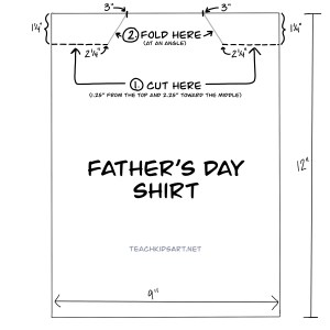 diagram for Father's Day Shirt card
