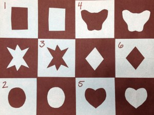 Order for placing negative shapes in collage