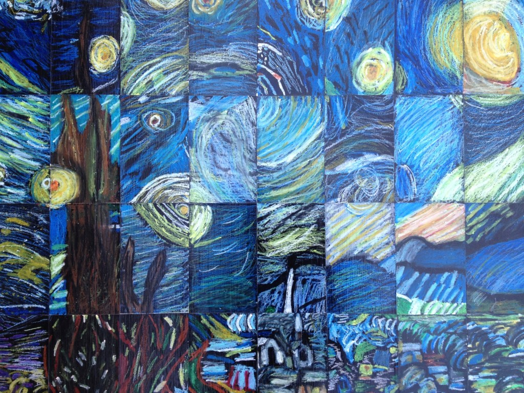"""5th Grade/Middle School Masterpiece Mosaic of """"Starry Night"""" by Vincent Van Gogh"""