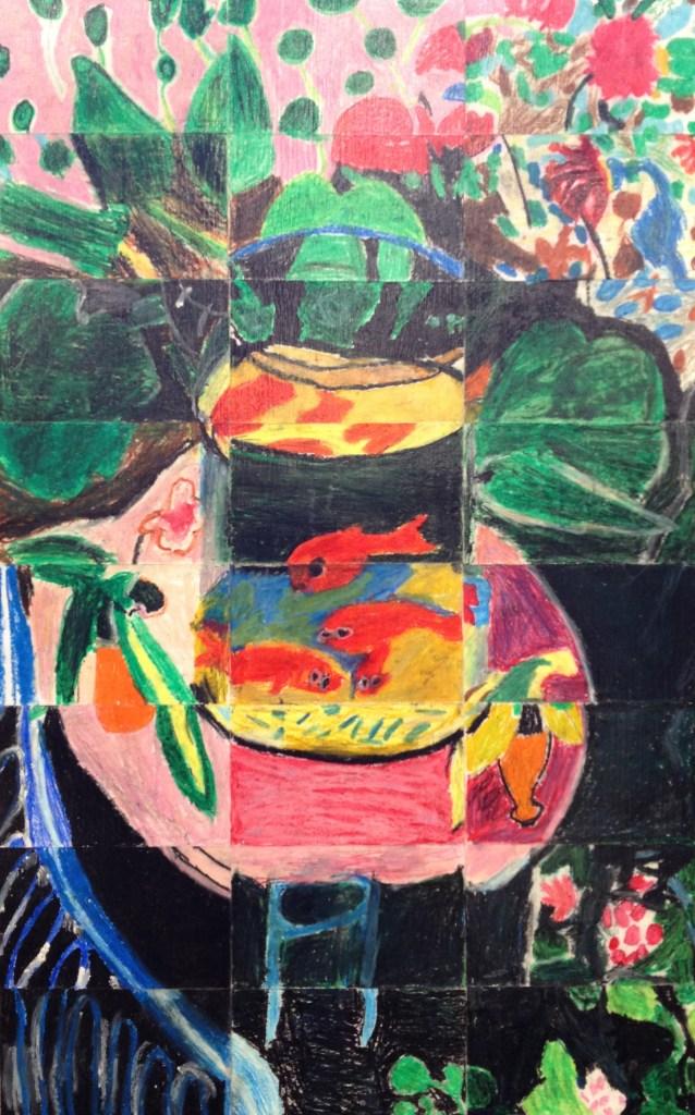"4th Grade Masterpiece Mosaic of ""Goldfish"" by Henri Matisse"