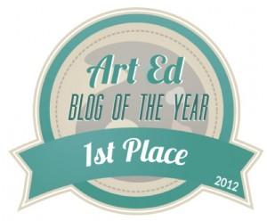 AOE-Art Ed Blog of the Year 2012 badge