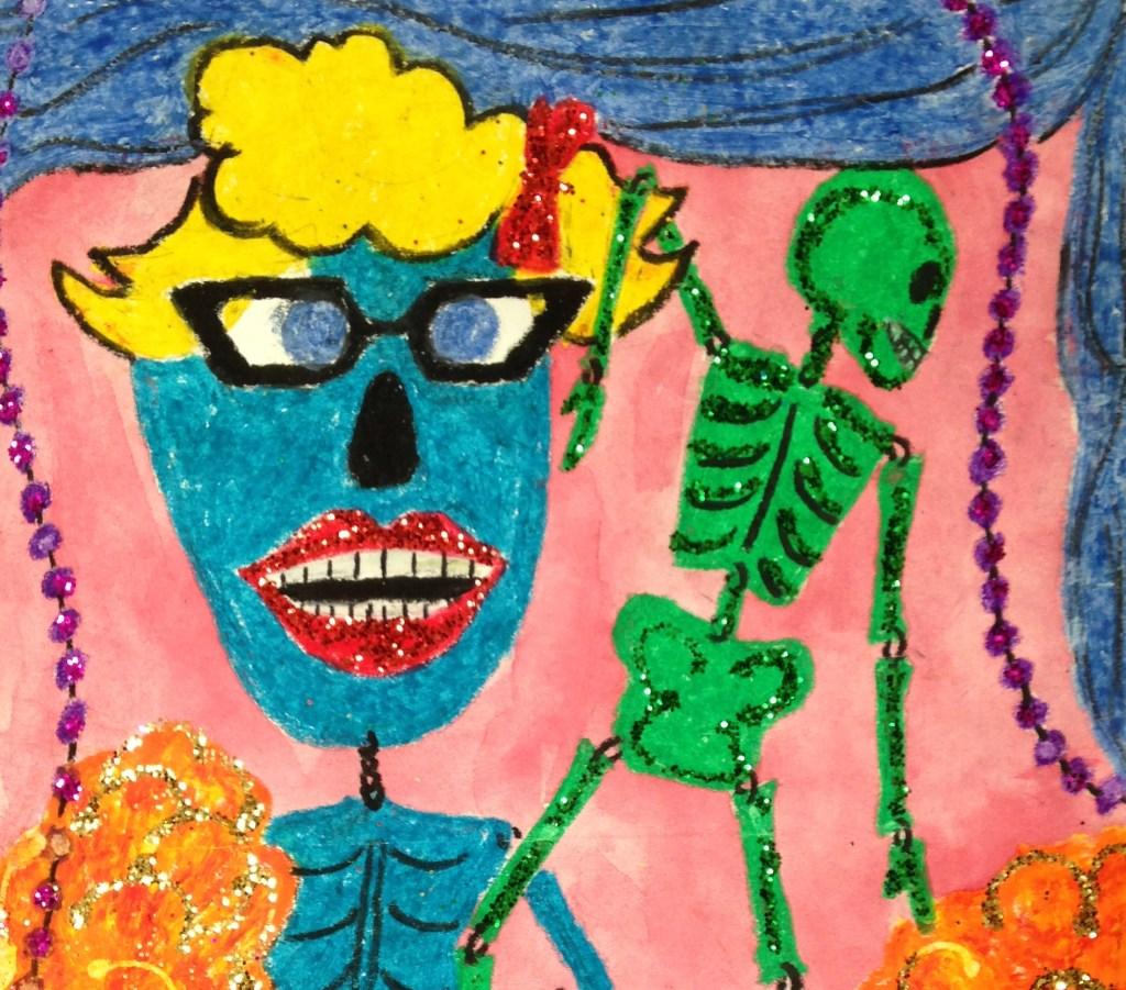 Colorful Ofrenda Skeletons