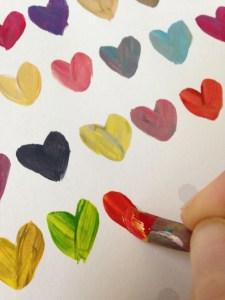 Paint a heart - step 1