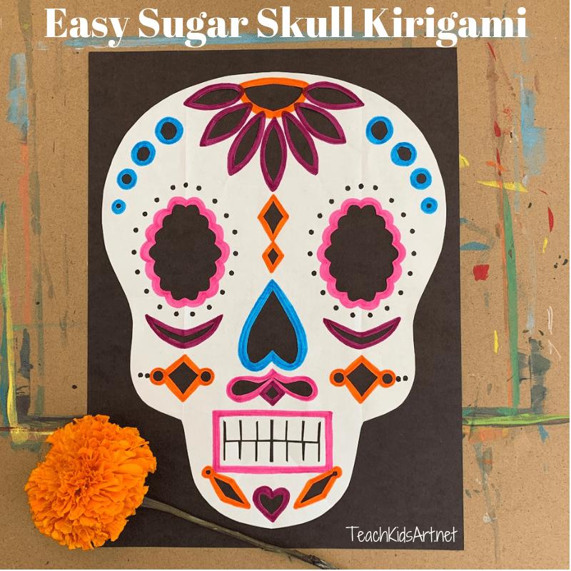Easy Sugar Skull Kirigami