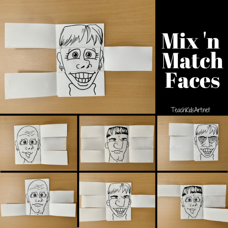 Mix 'n Match Faces Project for Kids