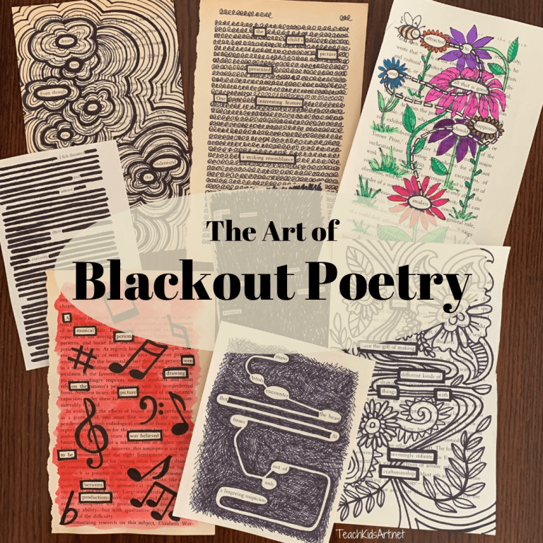 several examples of blackout poetry for inspiration!