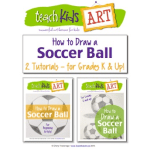 photo of the cover of How to Draw a Soccer Ball for grades K and up on Teachers Pay Teachers