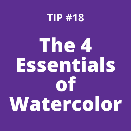 TIP #18 The 4 Essentials of Watercolor